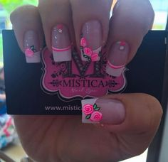J Nails, French Manicure Nails, Love Nails, Manicure And Pedicure, Hello Nails, Pink Nail Designs, Cute Nail Art, Nail Decorations, Gorgeous Nails