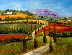 Tuscany by Inna Montano - Tuscany Painting - Tuscany Fine Art Prints and Posters for Sale