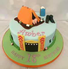 Music festival themed cake