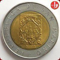500 Lire S.Marino Fortificazioni sanmarinesi 1988