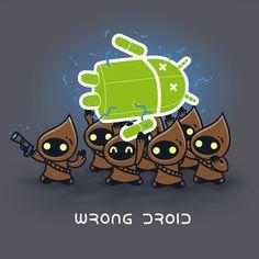 Matt Needham's Android and Star Wars mash up shirt...   Rampaged Reality