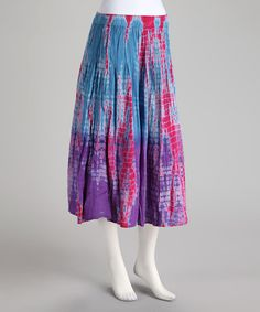 Take a look at this Imperial Blue Skirt by BOLD & BEAUTIFUL on #zulily today!