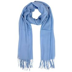 Mila Schon Long Scarves Light Blue Wool and Cashmere Fringed Stole ($79) ❤ liked on Polyvore featuring accessories, scarves, шарфы, light blue, long scarves, oblong scarves, woven scarves, cashmere shawl and wool scarves