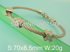 Free shipping wholesale  stainless steel jewelry fashion steel cuff bangle bracelet for woman B4E4127