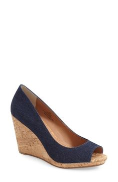 Caslon® 'Devin' Peep Toe Wedge (Women) available at #Nordstrom