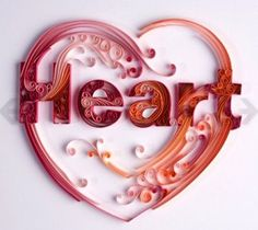 Wow.  Exquisite quilling heart