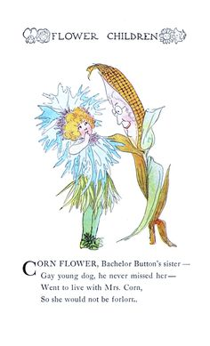 Flower Children By Elizabeth Gordon Vintage Reproduction Photo Print No # 74 of 84 by A4Printsuk on Etsy