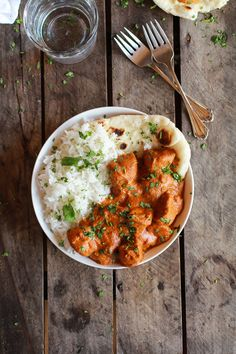 Easy Healthier Crockpot Butter Chicken | halfbakedharvest.com-- justin loved this and wants me to make it again.  I did not like it