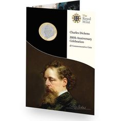 The 2012 UK Charles Dickens Two Pound Brilliant Uncirculated Pack Coin Design, Folder Design, Presentation Folder, Famous Words, Us Coins, Told You So, Mint, Celebrities, Britain