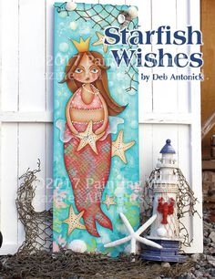 Starfish Wishes by Deb Antonick in the June 2017 issue of Painting World Magazine www.paintingworldmag.com