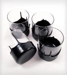Dripped Wax Glassware - 4 Pack