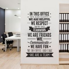 Exceptionnel In This Office Typography Sticker Business Office Decor, Professional Office  Decor, Creative Office Decor