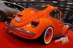 orange vw beetle...