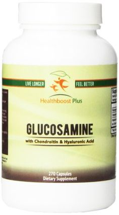 Healthboost Plus Glucosamine Sulfate with Chondroitin and Hyaluronic Acid NutritionalSupplement 270 Count ** Click image for more details.