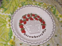 Sweet Strawberry Pie Baking Dish by Daysgonebytreasures on Etsy, $12.00