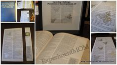 Phonebook or encyclopedia as art. #freefromtrash www.ExperimentMOM.blogspot.com