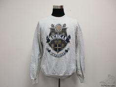 Vtg 90s Fruit of the Loom Michigan Wolverines Sweatshirt sz XL Extra Large Brady #FruitoftheLoom #MichiganWolverines
