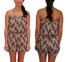 Strapless Arrow Print Romper $24.99 www.lovebliss.com