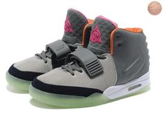 Buy Men Shoes Nike Air Yeezy II Gray Orange Discount