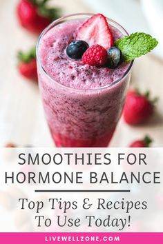 Your complete guide to making smoothies for hormone balance, including tips on the best ingredients to use and hormone balancing detox smoothie recipes. Diet Smoothie Recipes, Healthy Breakfast Smoothies, Smoothie Diet, Fruit Smoothies, Healthy Drinks, Diet Drinks, Diet Recipes, Juice Recipes, Making Smoothies