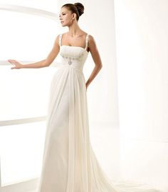wedding gown with straps