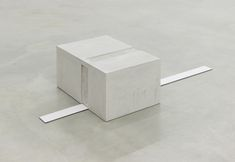 Untitled, 2015, concrete, metal, 20 x 60 x 70 cm (concrete), 10 x 9.5 cm (metal)