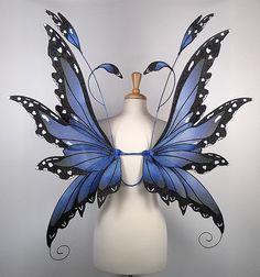 Colleen Fairy Wings in Blue Morpho Butterfly Pattern