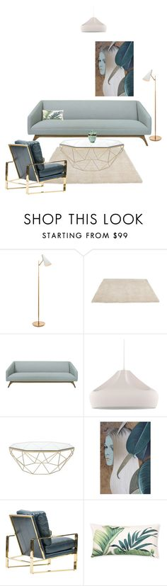 Misty Green by natalierosewastaken on Polyvore featuring interior, interiors, interior design, home, home decor, interior decorating, Jayson Home, Dot & Bo, Williams-Sonoma and livingroom