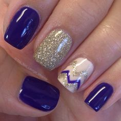 Opi Nordic purple gel nail art design