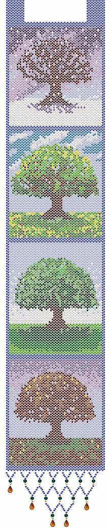 Seasons (Peyote or Brick Stitch) - free pattern to download