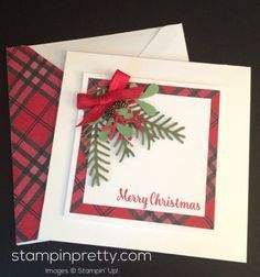 card making ideas christmas stampin up Stampin Up Christmas, Christmas Cards To Make, Noel Christmas, Xmas Cards, Christmas Greetings, Handmade Christmas, Holiday Cards, Christmas Crafts, Christmas Ecards