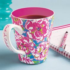 Lead A Colorful LIfe with this gorgeous mug!    Makes a lovely gift.  12 oz. Stoneware.  Microwavable and dishwasher safe.