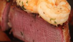 My Surf and Turf combines bacon wrapped filet mignon and garlic butter shrimp for a delicious marriage of land and sea, right on your dinner plate. Grill Lobster Tail Recipe, Lobster Recipes, Seafood Recipes, Lobster Tails, Grilled Lobster, Grilled Seafood, Grilled Chicken Recipes, Grilled Fish