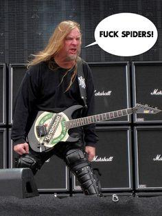 Slayer. Jeff Hanneman. Spiders. Get well. Thrash metal.