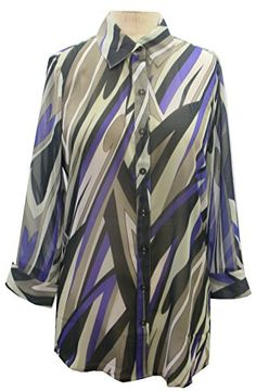 Abstract Printed Art Chiffon Blouse 16 Abstract Swirl -- You can get more details by clicking on the image.