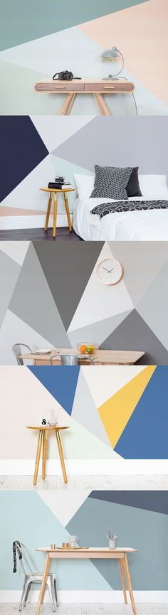 Show-stopping geometrics with a modern twist. These geometric wallpaper designs are pared-back yet stylish. They're versatile, and would look beautiful in any room in your home.