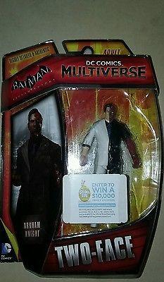 DC COMICS MULTIVERSE BATMAN ARKHAM KNIGHT  TWO-FACE FIGURE MATTEL NEW
