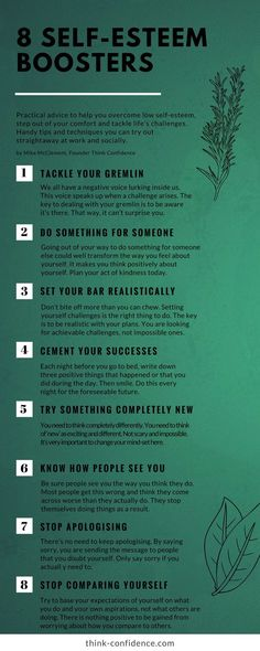 Practical tips for building self-esteem and overcoming self-doubt #infographic #selfesteem #selfdoubt #selfconfidence