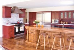Red Kitchen Cabinets Design Ideas, Pictures, Remodel, and Decor - page 5