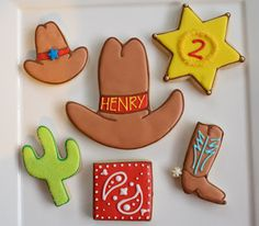 western themed round up cookies
