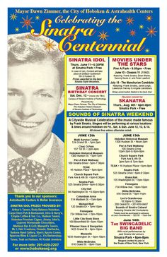 Sounds of Sinatra Weekend at Wicked Wolf Frank Sinatra is the face of Hoboken, so let's celebrate his 100th birthday and relive his music with talented singers covering his best songs! June 12, 2015
