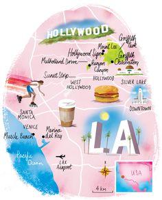 Los Angeles map by scott jessop