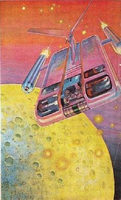 70s Sci-Fi Art — Gray Morrow, for Galaxy Magazine, August 1966.