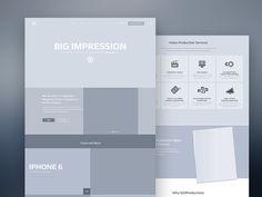 Wireframe Webdesign