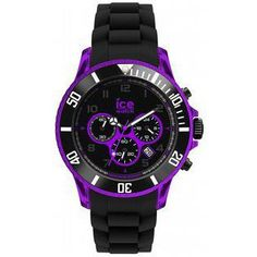 montre Homme Ice Watch, Chrono Electrik Black and Purple Big CH.KPE.BB.S.12