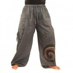 pantalones tailandeses patrón en espiral