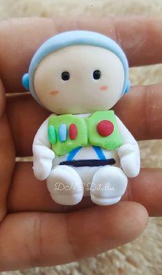 Toy Story Birthday Cake, Toy Story Party, Cute Polymer Clay, Diy Clay, Fondant Figures, Clay Figures, Ideas Joyería, Pasta Flexible, Clays