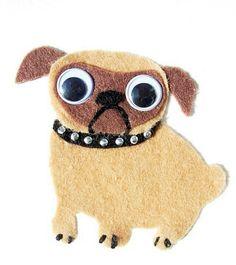 Love this pug Pug Puppies, Pugs, Crafts To Do, Felt Crafts, Alex Craft, Pug Art, Bird Quilt, Felt Dogs, Felt Patterns