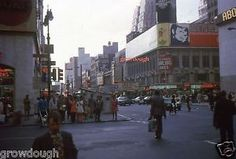 35mm-Slide-Times-Square-Street-Scene-WOR-Bowling-Lanes-Movie-NYC-1972
