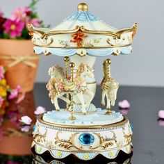 Antique Carousel Music Boxes | carousel music box